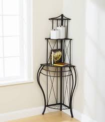 Bakers Rack Console Furniture Decorative Wrought Iron Corner Bakers Rack Design