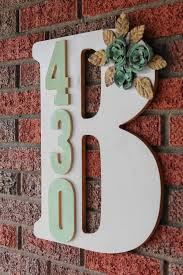monogram plaques best 25 address plaque ideas on address numbers