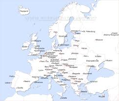 The Map Of Europe by Cities And Capitals Of Europe