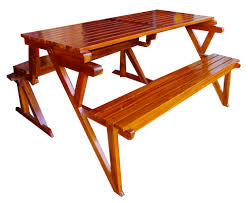 Folding Wood Picnic Table Collection In Folding Wooden Picnic Table With Details About