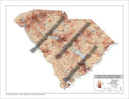 Sc County Map Stockmapagency Com Population Density Map Of South Carolina With
