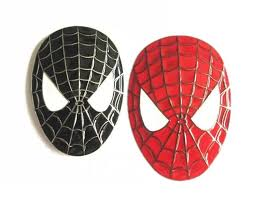 3d spider man spiderman face mask badge emblem decal car sticker