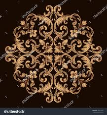 gold vintage baroque ornament retro pattern stock vector 538174567