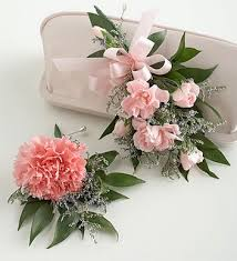 where can i buy a corsage and boutonniere for prom carnation corsage boutonniere package with pink flowers jpg 1