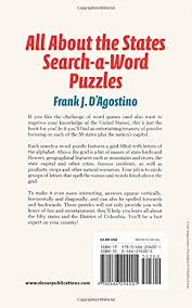 all about the states search a word puzzles frank j d u0027agostino