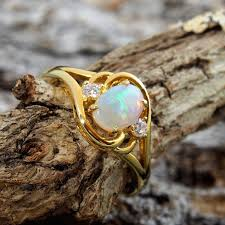 crystal opal rings images Gold plated silver solid opal ring black star opal jpg