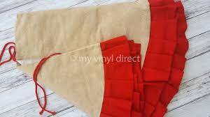 Christmas Tree Skirt Burlap Ruffle Christmas Tree Skirt My Vinyl Direct