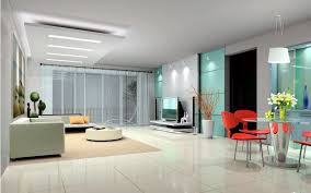 spacious modern interior design with clean design lines and