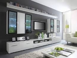 livingroom decoration contemporary white flat screen tv wall mount cabinet for