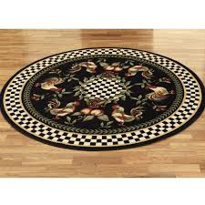 Round Rooster Rug Rooster Kitchen Rugs Washable Cotton Rugs For Kitchen Painted