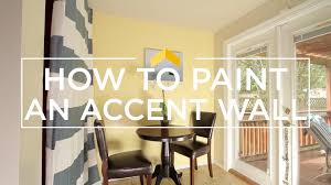 how to paint an accent wall youtube