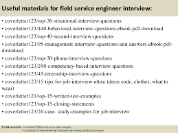 field service engineer cover letter sample 3114