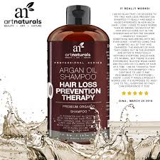 artnaturals argan oil hair loss prevention shampoo 16 oz