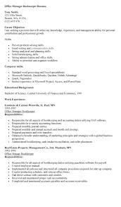 Bookkeeper Description For Resume 45 Full Charge Bookkeeper Resume Samples Vinodomia