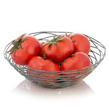decorative fruit bowl in decorative wire bowl