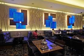 Interior Designs For Restaurants by Backlighting Blue Resin Restaurant Wall Led Light Panel Gpi Design
