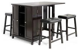 bar stools tables wholesale interiors aurora 5 piece dark brown modern pub table bar