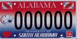 of alabama alumni car tag collegiate license plates alabama department of revenue