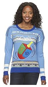 united states sweater kohl s s hanukkah dreidel crewneck