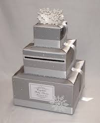 winter wonderland snowflake theme card box silver and