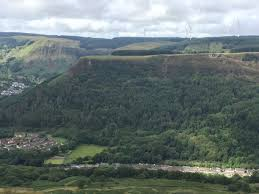 Table Top Mountain by Blaenrhondda Blaenrhondda Wales A View Of A Table Top Mountain