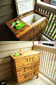 Hacker Table Remodelaholic Brilliant Diy Cooler Tables For The Patio With