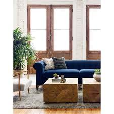 dorian hollywood regency navy velvet tufted sofa kathy kuo home