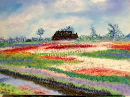 monet u0027s tulip fields at sassenheim the progressive palette