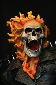 ghost rider mask costume artstation ghost rider 1 4 scale statue xm studios adam ross