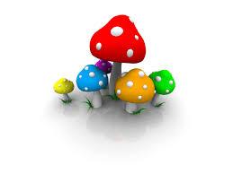 wallpaper 3d mushroom colored 3d mushroom wallpaper hd 8792 401 wallpaper moshlab