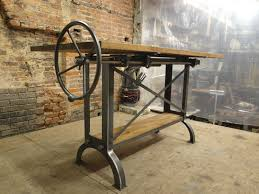 Custom Drafting Tables Custom Stand Up Industrial Drafting Table With Oak Top By