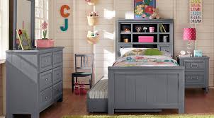 Bookcase Bedroom Sets Cottage Colors Gray 5 Pc Full Bookcase Bedroom Teen Bedroom Sets