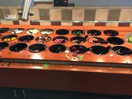 round table salad bar returned april 27 at 1 30 found a mess at the salad bar sad face