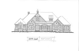 conceptual design 1379 craftsman ranch with rear garage new house