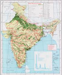 Indian Map Map Location Of Water Resource Projects Across River Basins In India