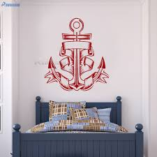 Decoration Kids Wall Decals Home by Aliexpress Com Buy Rownocean Nautical Home Decor Anchor Vinyl