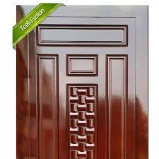 teak wood fusion entrance door 4412