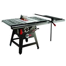 sawstop professional cabinet saw 1 75 hp sawstop contractor saw with 36 pro t glide fence system model