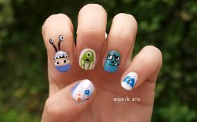 monsters and co nails uñas de arte