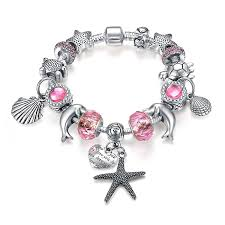 bracelet pink images Presentski fashion charm bracelet for teen girls and women with jpg