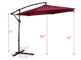 Deck Umbrella Replacement Canopy by Amazon Com Tms Patio Umbrella Offset Outdoor 10ft Garden Deck