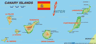 The Map Of Spain by Map Of Canary Islands Spain In Canary Islands Map Spainforum Me