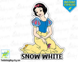 snow white printable etsy