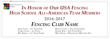name of high school in usa top fencing clubs and high school all american team members 2017