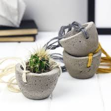 concrete planters mini concrete hanging planter by bells and whistles make