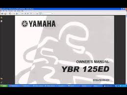 yamaha manuals yamaha ybr 125 manual youtube