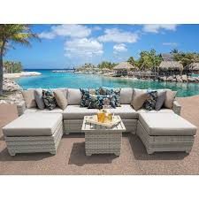 Discount Wicker Patio Furniture Sets Fairmont 7 Piece Outdoor Wicker Patio Furniture Set 07a Free
