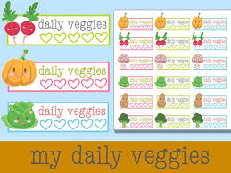 printable vegetable planner tracker school animals printable stickers planner stickers