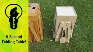 knock down picnic table plans mind blowing picnic table transforms into in a small box youtube