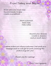 writing paper to print purple flower page purple stationery flora writing paper floral this is a digital file